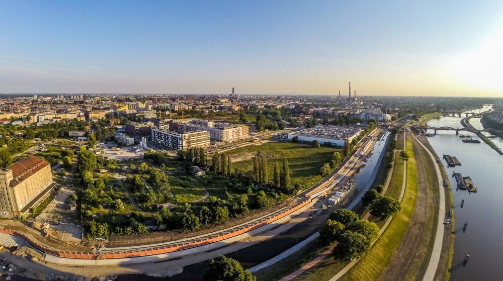 Promenady Wrocławskie z lotu ptaka