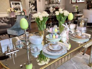 Wielkanocny stół w stylu glamour