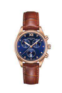 Certina DS-8 Lady Chronometer - brązowy zegarek