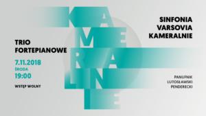Koncerty Kameralne w Warszawie – tria i duety fortepianowe Sinfonia Varsovia