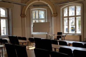 Kolegium Europejskie w Krakowie - sala wykładowa