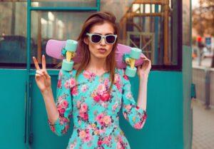 Mieszane printy w modzie wiosna/lato 2019