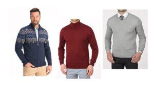 Najmodniejsze ciepłe swetry męskie na zimę