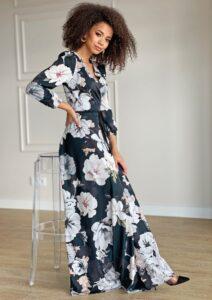 Sukienki w ciemnych odcieniach